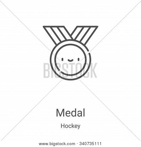 medal icon isolated on white background from hockey collection. medal icon trendy and modern medal s
