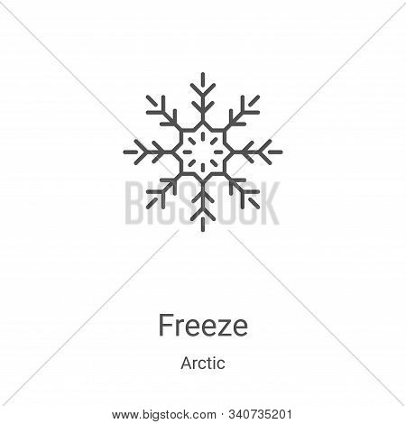 freeze icon isolated on white background from arctic collection. freeze icon trendy and modern freez