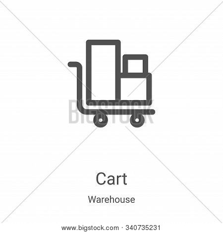 cart icon isolated on white background from warehouse collection. cart icon trendy and modern cart s