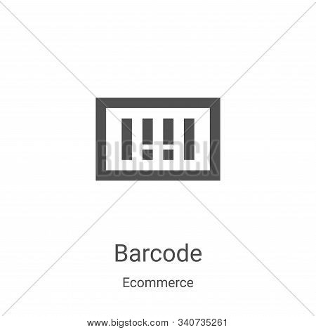 barcode icon isolated on white background from ecommerce collection. barcode icon trendy and modern