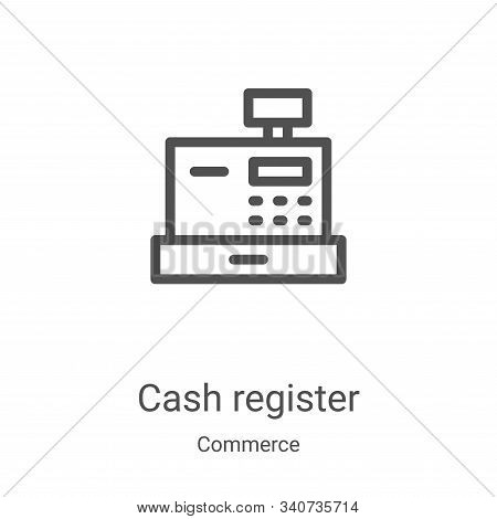 cash register icon isolated on white background from commerce collection. cash register icon trendy