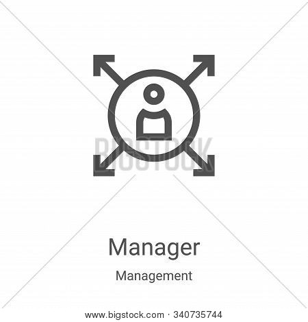 manager icon isolated on white background from management collection. manager icon trendy and modern