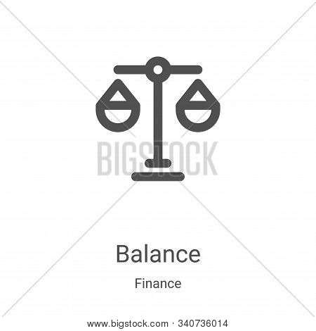 balance icon isolated on white background from finance collection. balance icon trendy and modern ba