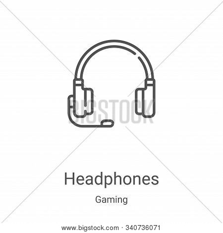 headphones icon isolated on white background from gaming collection. headphones icon trendy and mode