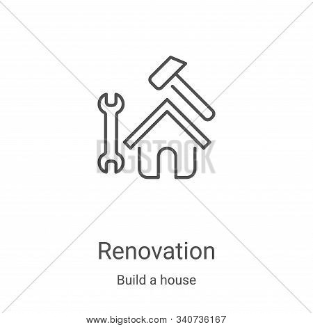 renovation icon isolated on white background from build a house collection. renovation icon trendy a