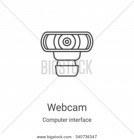 webcam icon isolated on white background from computer interface collection. webcam icon trendy and
