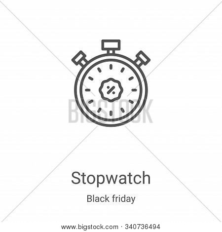 stopwatch icon isolated on white background from black friday collection. stopwatch icon trendy and
