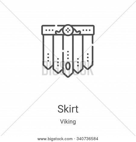 skirt icon isolated on white background from viking collection. skirt icon trendy and modern skirt s