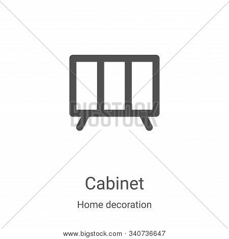 cabinet icon isolated on white background from home decoration collection. cabinet icon trendy and m