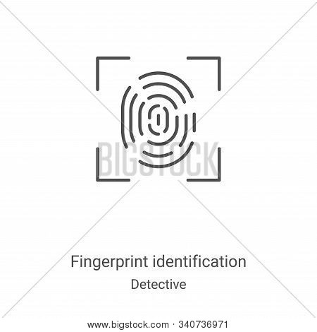 fingerprint identification icon isolated on white background from detective collection. fingerprint
