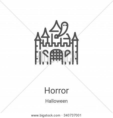 horror icon isolated on white background from halloween collection. horror icon trendy and modern ho