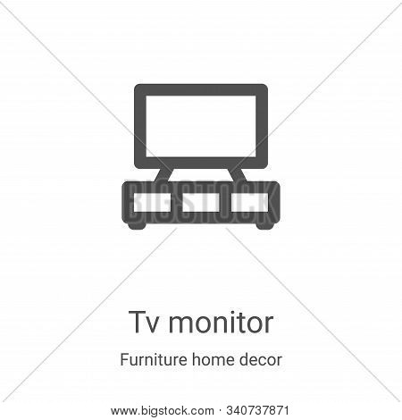 tv monitor icon isolated on white background from furniture home decor collection. tv monitor icon t