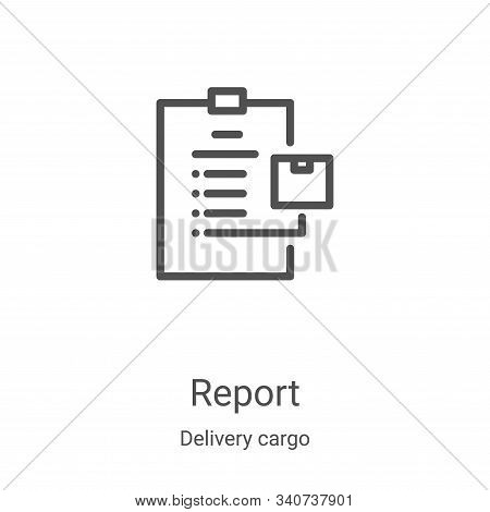report icon isolated on white background from delivery cargo collection. report icon trendy and mode