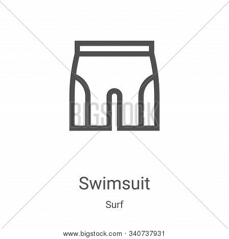 swimsuit icon isolated on white background from surf collection. swimsuit icon trendy and modern swi