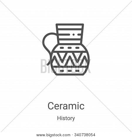 ceramic icon isolated on white background from history collection. ceramic icon trendy and modern ce