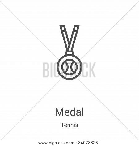 medal icon isolated on white background from tennis collection. medal icon trendy and modern medal s