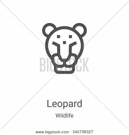 leopard icon isolated on white background from wildlife collection. leopard icon trendy and modern l