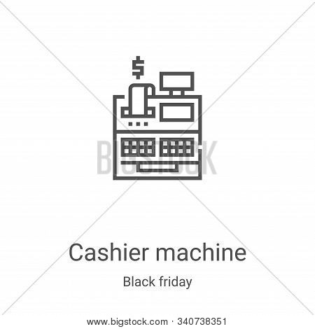 cashier machine icon isolated on white background from black friday collection. cashier machine icon