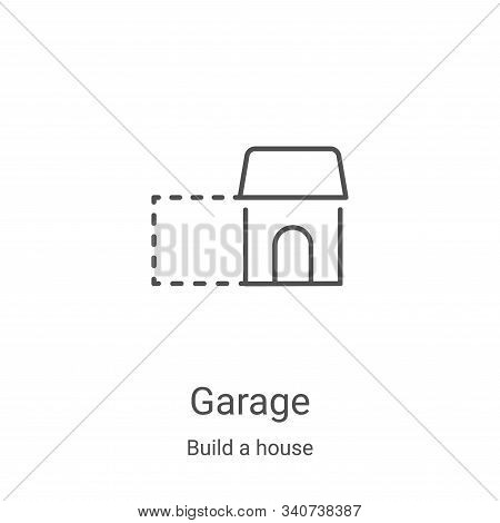 garage icon isolated on white background from build a house collection. garage icon trendy and moder