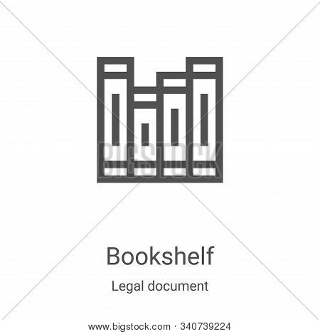 bookshelf icon isolated on white background from legal document collection. bookshelf icon trendy an