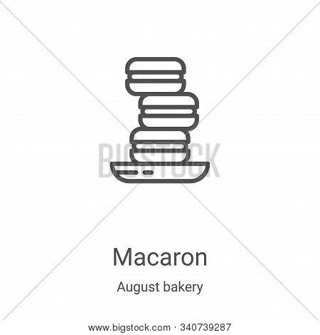 macaron icon isolated on white background from august bakery collection. macaron icon trendy and mod
