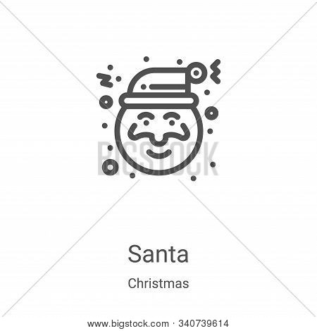 santa icon isolated on white background from christmas collection. santa icon trendy and modern sant