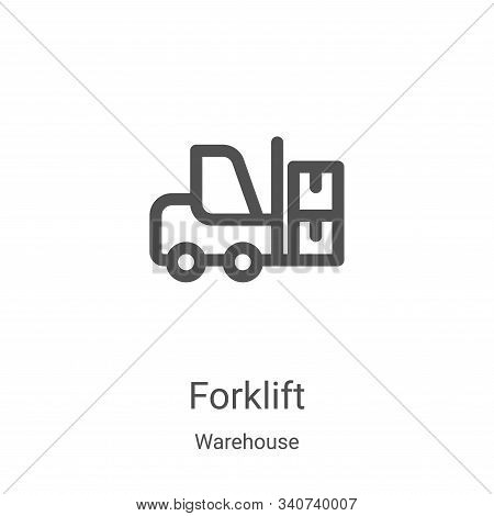forklift icon isolated on white background from warehouse collection. forklift icon trendy and moder