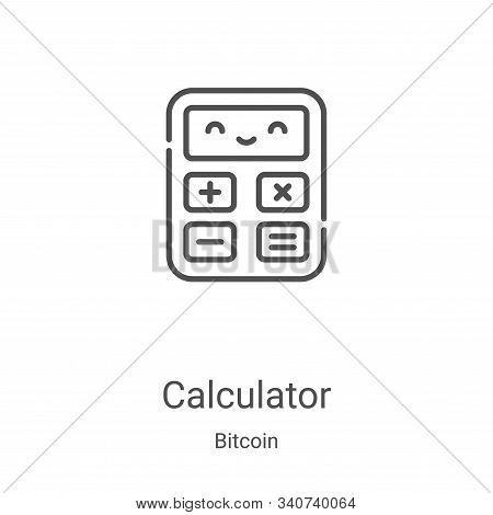 calculator icon isolated on white background from bitcoin collection. calculator icon trendy and mod