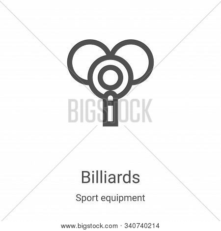 billiards icon isolated on white background from sport equipment collection. billiards icon trendy a