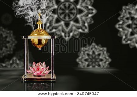 Incense burner of Islamic style suitable for all purposes such as use in the social media