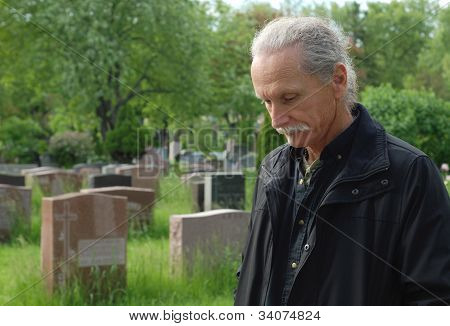 Man In Cemetery