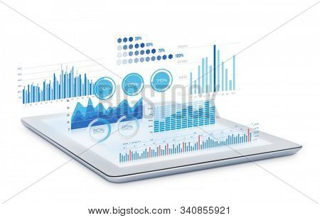 Concept Of Technology And International Business. Business People With Their Team Working In Office,