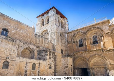 The Church Of The Holy Sepulchre Also Called The Basilica Of The Holy Sepulchre In Old City Jerusale