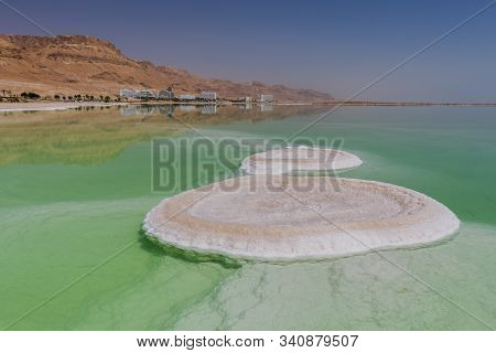 Salt Formation In Ein Bokek Hotel And Resort District On The Shore Of The Dead Sea, Near Neve Zohar,