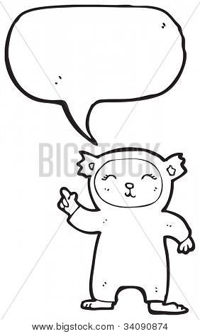 cartoon funny bear costume poster