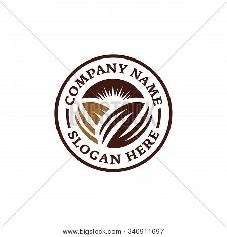 Chocolate Coffee Bean Logo. Emblem Logo Design. Branding For Cafes, Cofeeshop, Restaurants, Beverage
