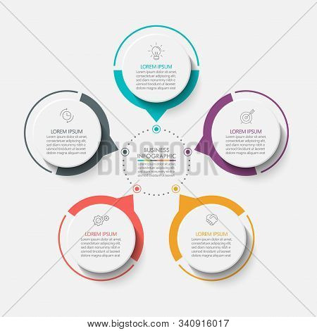 Business Circle. Timeline Infographic Icons Designed For Abstract Background Template Milestone Elem