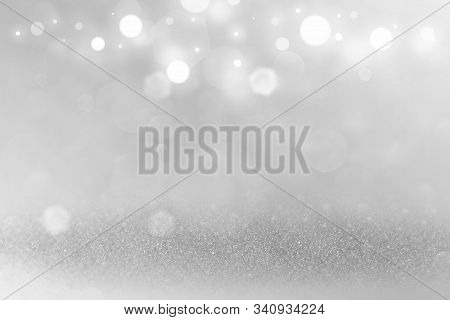 Green Beautiful Shiny Abstract Background Glitter Lights Defocused Bokeh - Festal Mockup Texture Wit