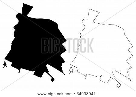 Salinas City, California (united States Cities, United States Of America, Usa City) Map Vector Illus