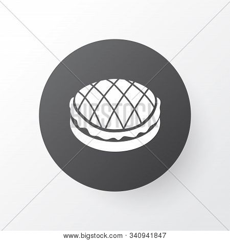 Apple Pie Icon Symbol. Premium Quality Isolated Tart Element In Trendy Style.