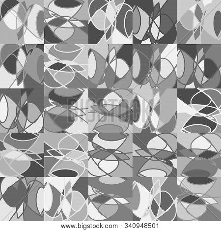 Whimsical Funky Naive Mess Grayscale Graphic Motif