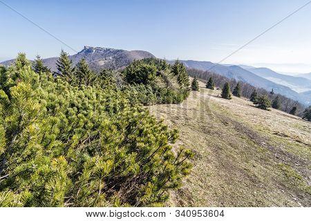 Klak Hill Is The Symbol Of The Rajecka Valley, Slovak Republic. Hiking Theme. Natural Scene.