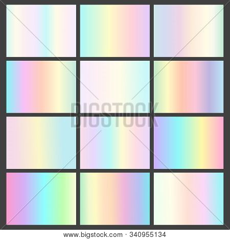 Vector Collection Of Shiny Neon Multicolored Gradients