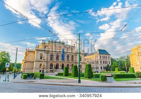 Czech Philharmonic And Opera House - Rudolfinum Neo-renaissance Building Concert Hall On Jan Palach