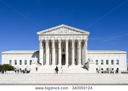 Washington Dc, Usa - March 27, 2019: Supreme Court Of The United States On A Sunny Spring Day In Was