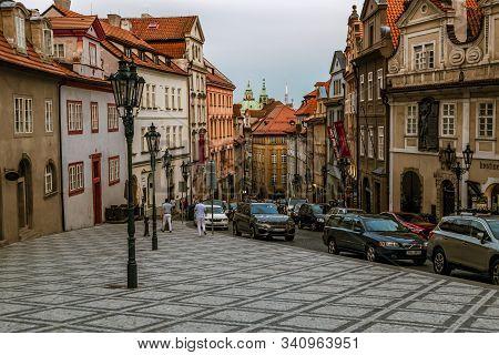 Prague.czech Republic.august 30, 2019.thunovska Street In Mala Strana On The Way To Prague Castle At
