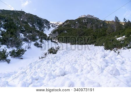 Landscape After The Descent Of A Snow Avalanche. Tatra Mountains.