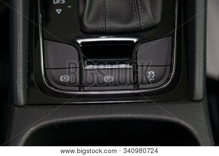 Three Black Buttons For Turning On And Off The Electronic System Of Vehicle Stability Control And Pa