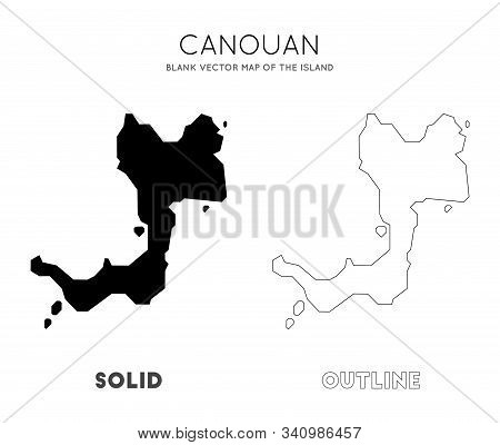 Canouan Map. Blank Vector Map Of The Island. Borders Of Canouan For Your Infographic. Vector Illustr