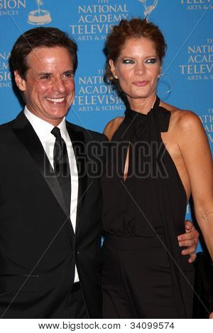 LOS ANGELES - JUN 17:  Christian LeBlanc, Michelle Stafford arrives at the 2012 Daytime Creative Emmy Awards at Westin Bonaventure Hotel on June 17, 2012 in Los Angeles, CA